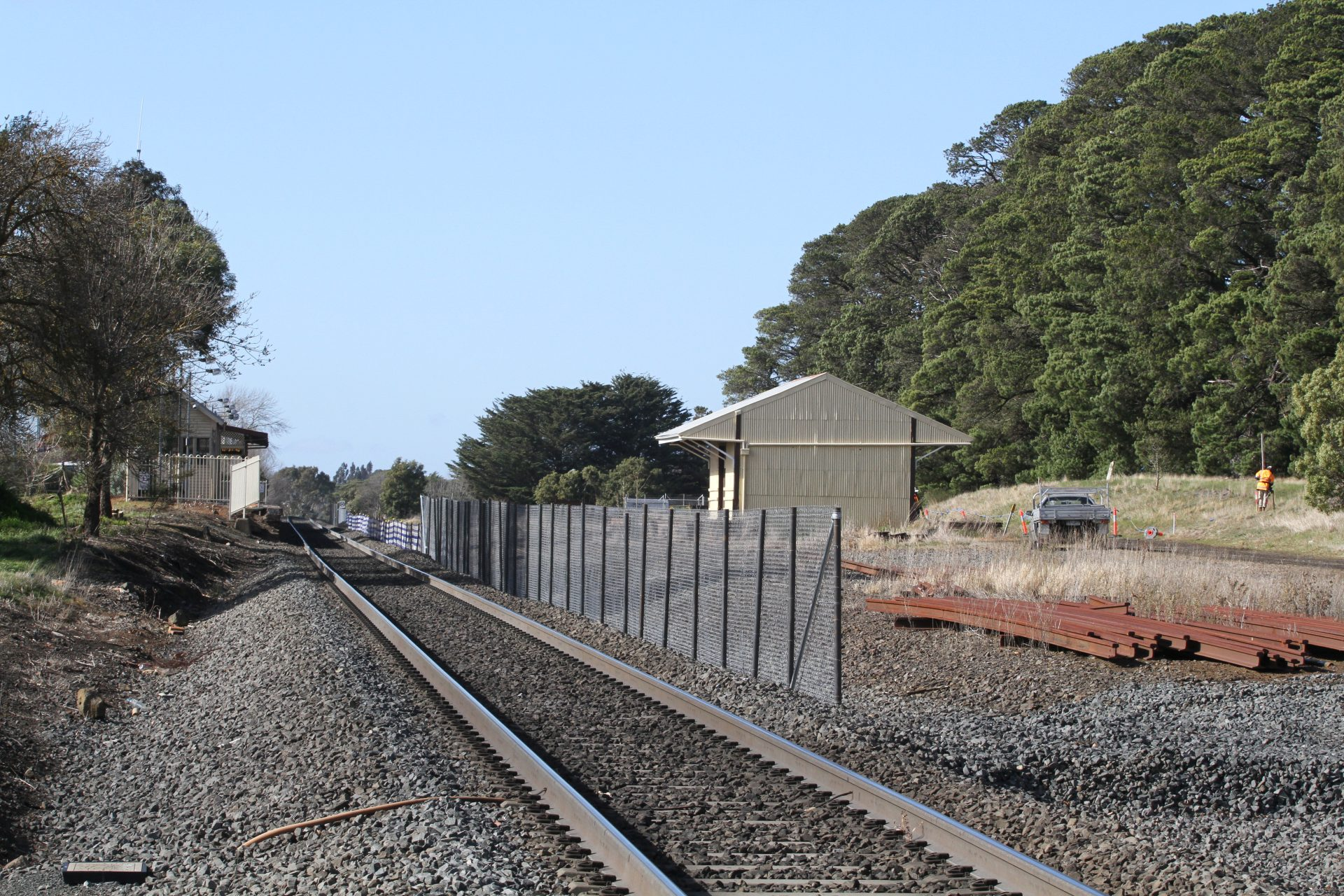 Rail Geelong - Gallery - Construction of the new passing