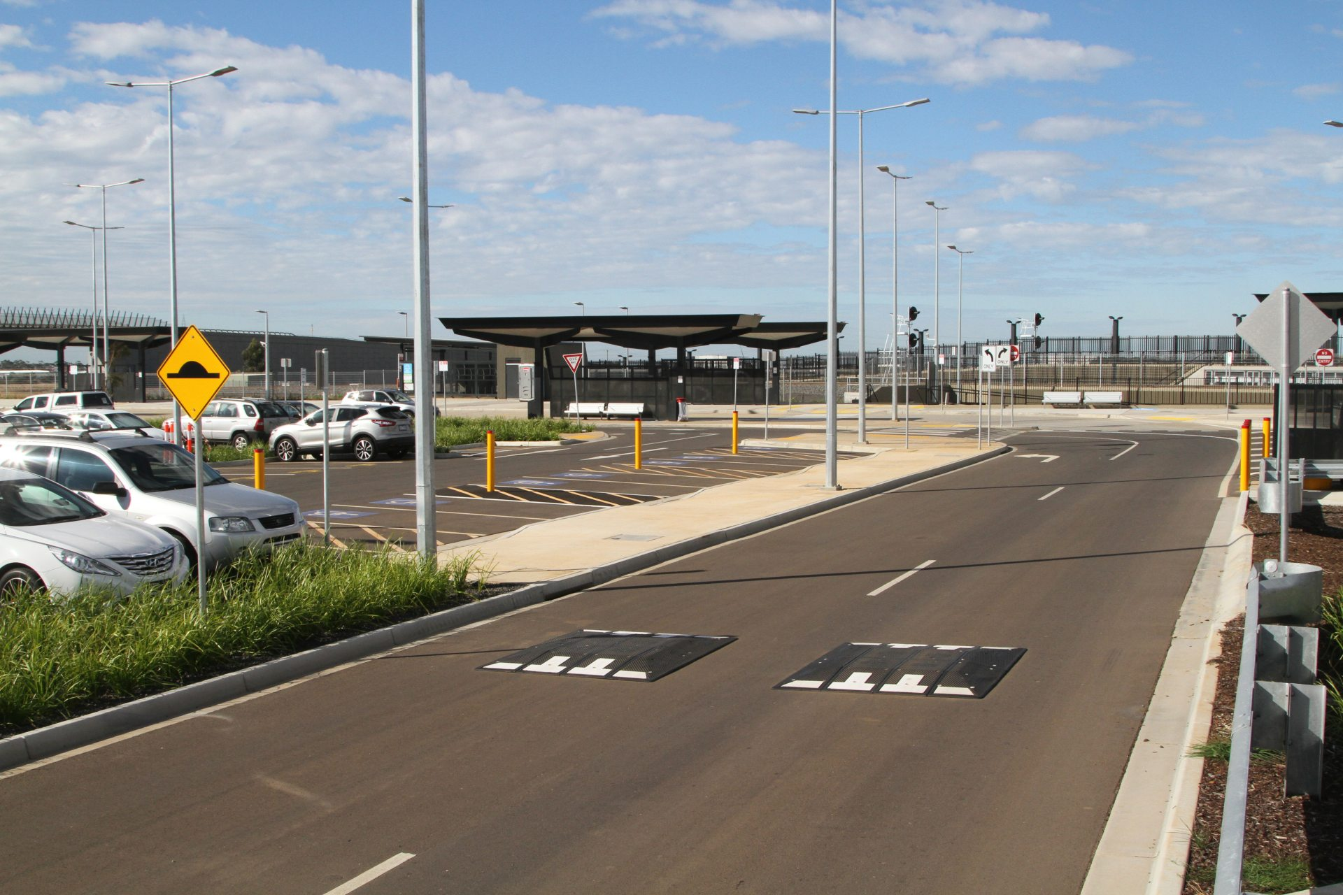 Rail Geelong Gallery Access Road At The Caroline Springs Station Car Park