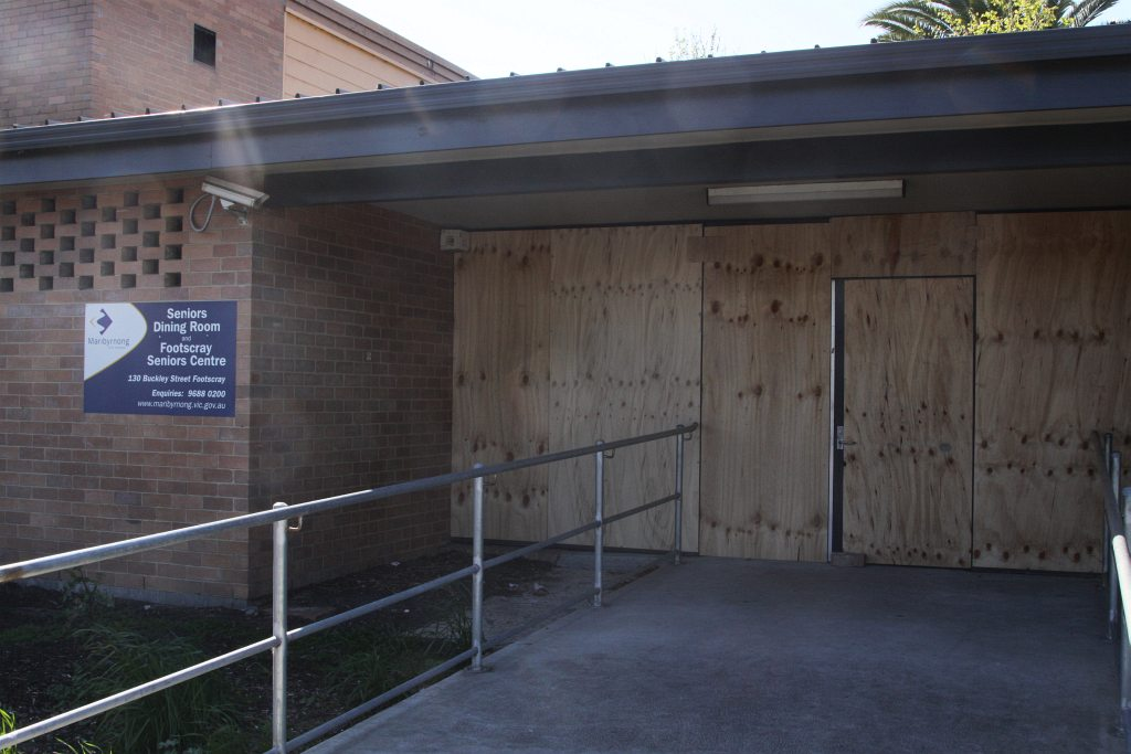 Boarded up doors at the Footscray Senior Citizensu0027 Centre & Rail Geelong - Gallery - Boarded up doors at the Footscray Senior ...