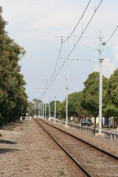 Looking up the line from Altona