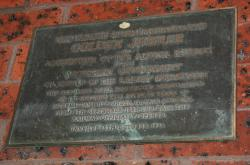 Plaque from 1974 making 50 years of government operation of the Altona line