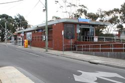 Street side of the station building at Altona