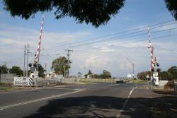 Civic Parade level crossing