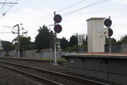 Westona: Signal WTO704 for up trains departing Westona