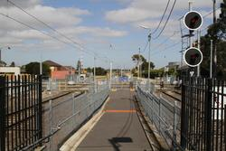 November 24, 2019 - Access to the island platform from Maidstone Street