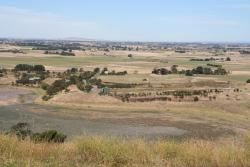 Looking east from Coragulac Hill towards Corangamite Lake Road