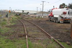 The points into Corio Quay South have been straightrailed, line goes to the North quay