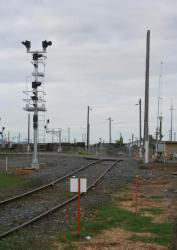 New signal for entering the yard at North Shore