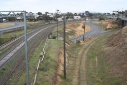 Overview of the grain loop junction from Princes Highway overpass