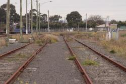 Broad gauge sidings at North Shore growing weeds