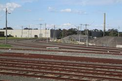Corio Independent Goods Line: Broad gauge track 'J' disconnected at North Shore, so that a gauge converted track 'A' could be connected to broad gauge