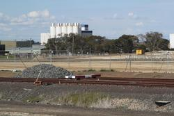 Corio Independent Goods Line: Down end of the recently gauge converted track 'A' at North Shore