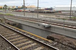 Corio Independent Goods Line: Looking over to the Corio Independent Goods Line bridge over Cowies Creek