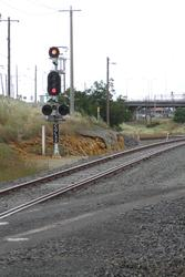 Signal CGL42 for down trains from North Shore approaching the grain loop junction