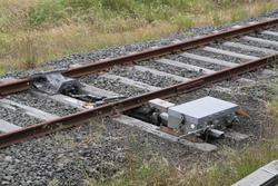 Corio Independent Goods Line: Derailer on the broad gauge CIGL to North Geelong Yard link
