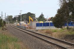 Piling works underway for the road over rail bridge