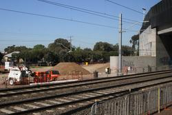 Aircraft Road level crossing removal project: Up side of the new bridge