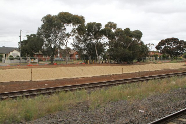 Landscaping works at the north-east end