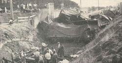 Bridge demolished by train at Armytage