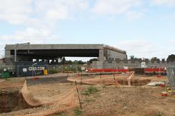 Cherry Street level crossing removal project: Up end of the bridge, approach embankment still need to be completed