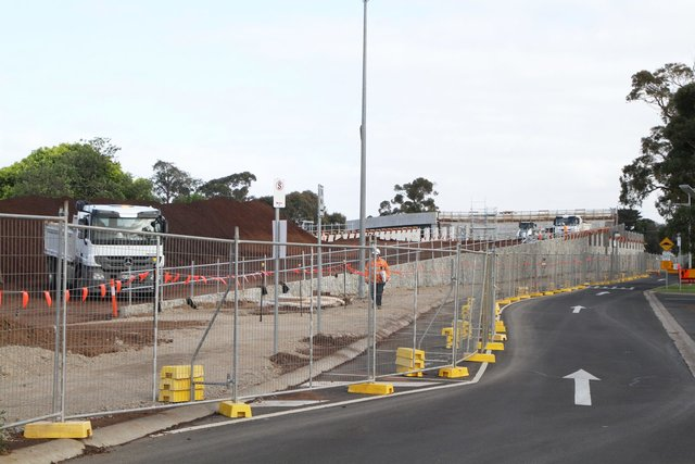 Southern approach embankment still to be completed
