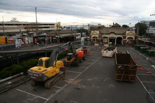 Construction equipment in place