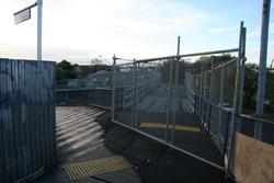 New temporary ramp to platform 4 not yet in use