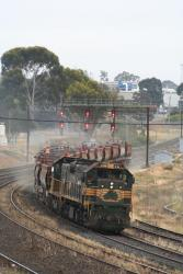 Geelong line ballast: North Geelong Junction