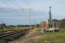 Soil testing underway south of the Kororoit Creek Road level crossing