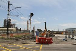 Site cleared ready for piling works to start