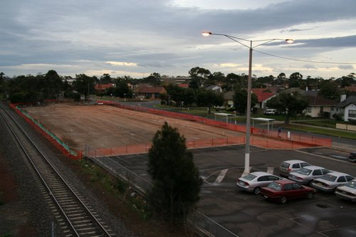 New car park at the down end levelled out