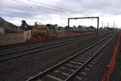 Digging out for the new 3rd track under the Princes Freeway bridge