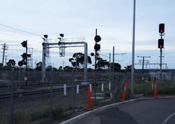 Array of signals at the up end of the platforms