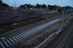 New platform track taking shape at the down end