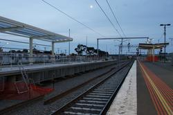 Only a short section of the new platform will not be covered