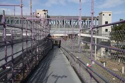 New footbridge viewed from the temporary ramp
