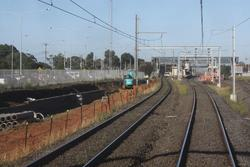 Excavation for the extra track to Altona