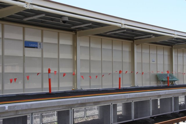 Platform signage in place on the new platform 1
