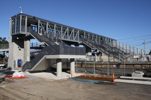 New footbridge virtually complete