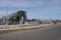 Stub of the old ramp on the north side, new concourse alongside