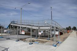 Laverton Rail Upgrade project: Stub of the old ramp on the north side