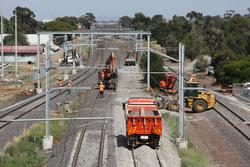 Laverton Rail Upgrade project: Trackwork at the down end