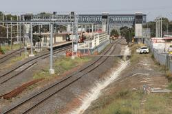Laverton Rail Upgrade project: View from the up end towards the station