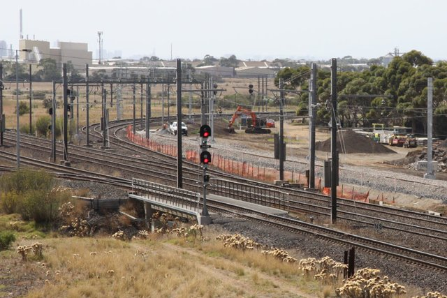 New track in place towards Laverton Loop