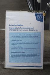 Laverton Rail Upgrade project: Poster informing commuters of the changes