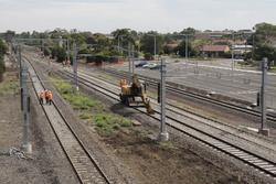 Laverton Rail Upgrade project: The track to platform 2 (former platform 1) is being left disconnected for now
