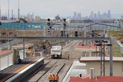 Laverton Rail Upgrade project: Track slew to platform 1 complete at the up end