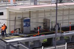 Laverton Rail Upgrade project: Metcard equipment hurriedly placed on platform 1