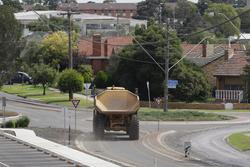 Laverton Rail Upgrade project: Roads covered with mud