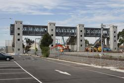 Laverton Rail Upgrade project: View from the down end of the new concourse